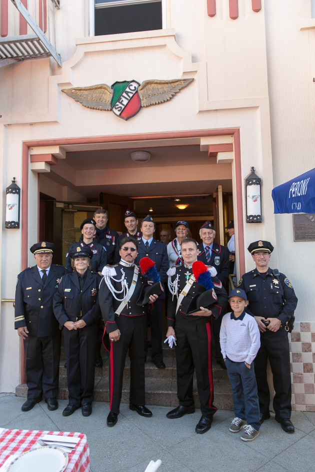 Carabinieri & Columbia Association officers